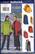 Butterick 5840 14-16-18 Jacket Vest Skirt Pants UNCUT