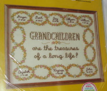 Grandchildren Cross Stitch Sampler Kit