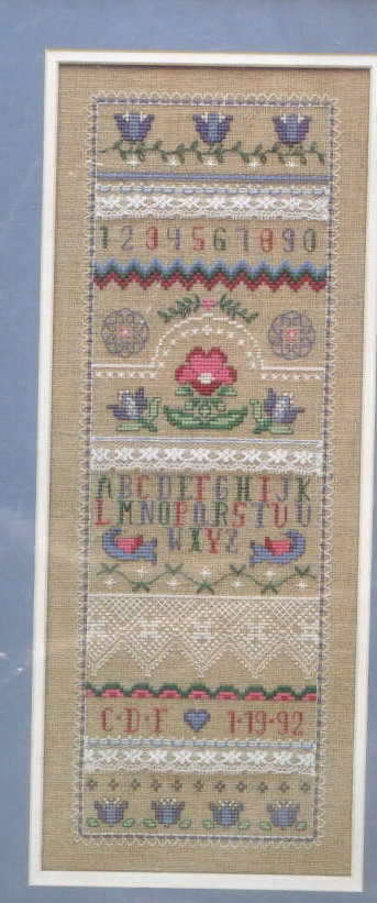 Linen and Lace Sampler Alphabet Cross Stitch Kit