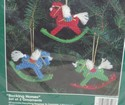 Bucilla Rocking Horses Plastic Canvas Ornament Kit