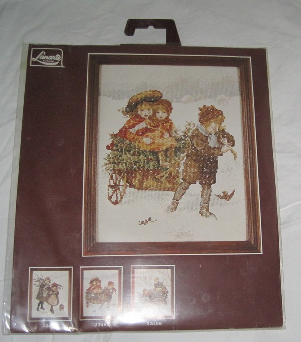 Lanarte Holland Counted Cross Stitch Children in Winter SEALED - Click Image to Close