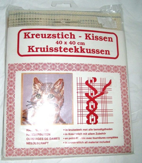 Kitten Needlepoint Kit German Import - Click Image to Close