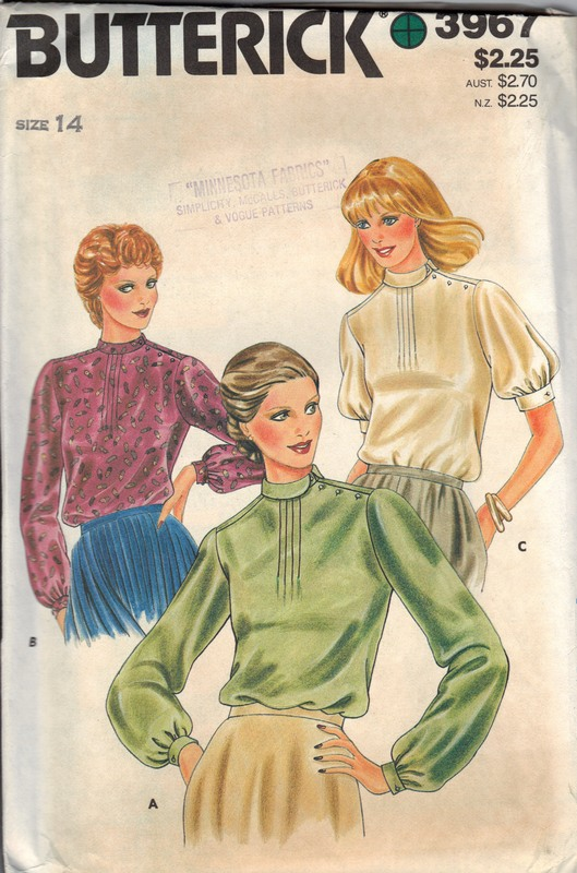Butterick 3967 Misses Blouse Pattern UNCUT Various Styles - Click Image to Close