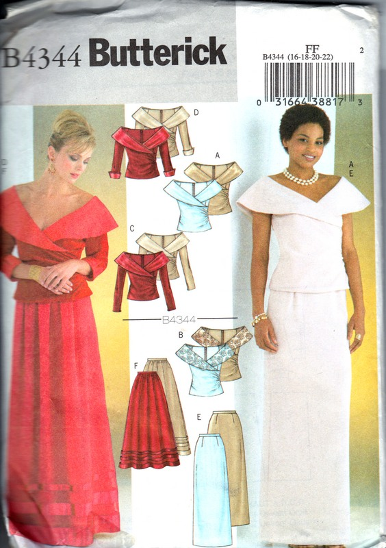 Butterick B4344 Evening Skirt and Top Size FF UNCUT - Click Image to Close