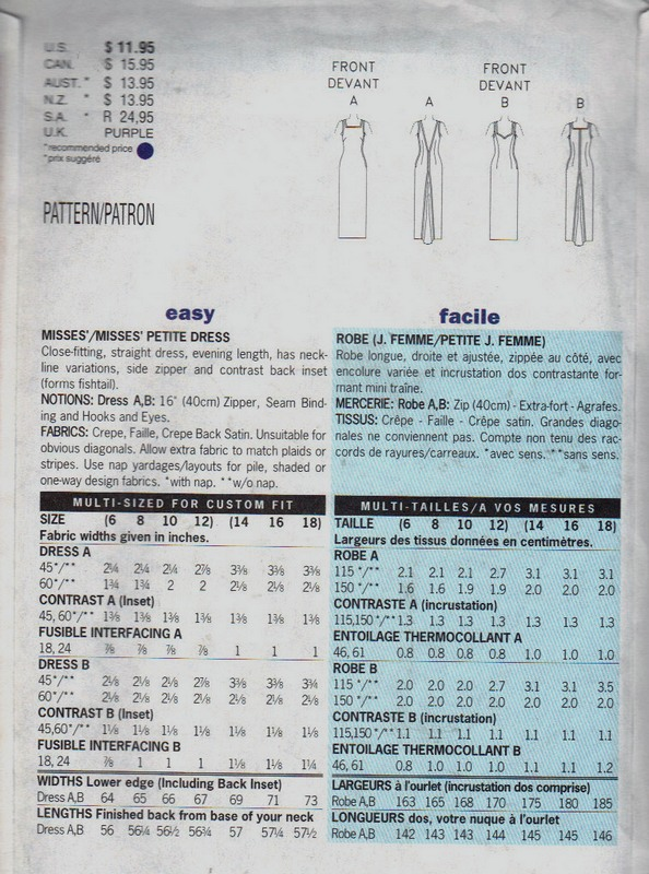 Butterick 4780 Nicole Miller Evening Gown Pattern UNCUT - Click Image to Close