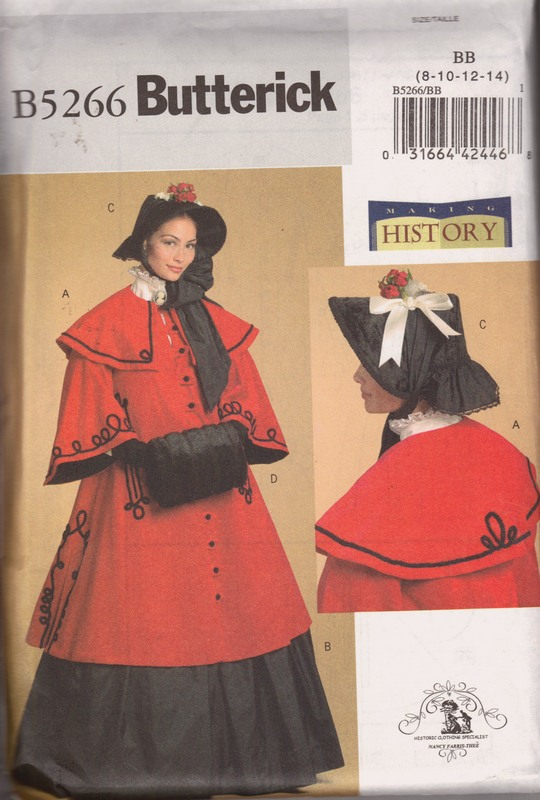 Butterick B5266 Historical Victorian Costume Pattern - Click Image to Close