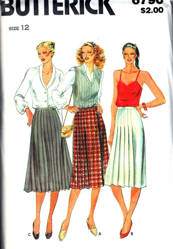 Butterick 6790 Pleated Skirt Pattern UNCUT - Click Image to Close