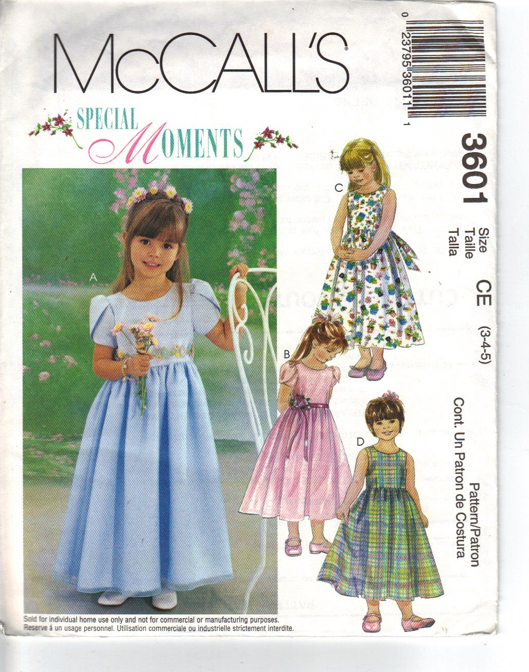 McCalls 3601 Small Party Dress Pattern UNCUT - Click Image to Close