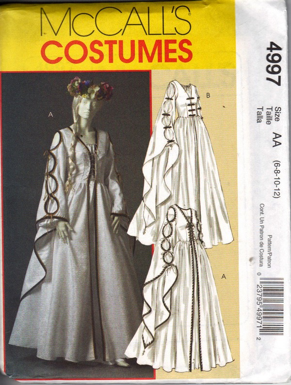 McCalls 4997 AA Renaissance Dress Pattern UNCUT - Click Image to Close