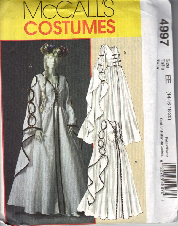 McCalls 4997 EE Renaissance Dress Pattern UNCUT - Click Image to Close