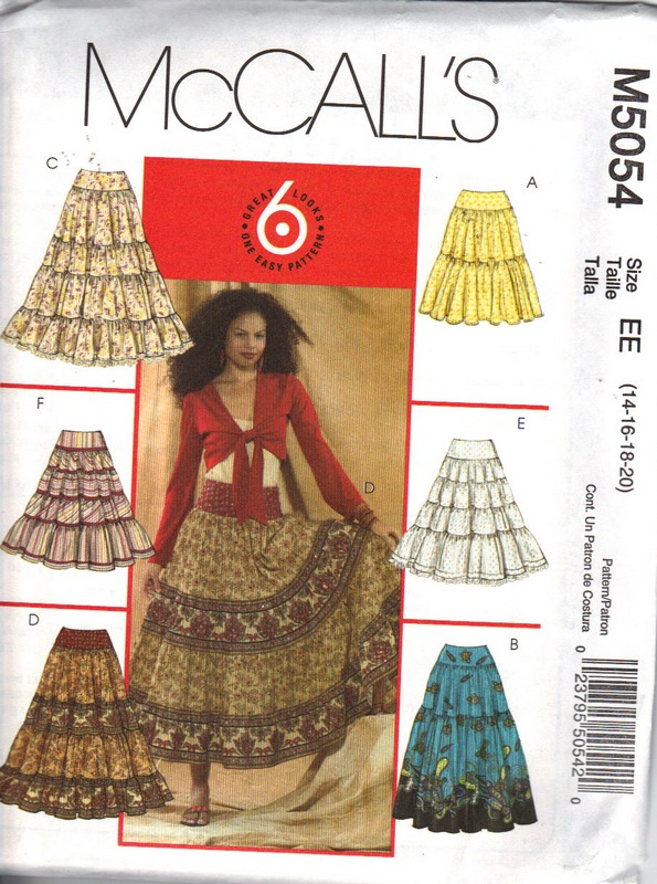 McCalls 5054 Full Skirt Pattern UNCUT - Click Image to Close