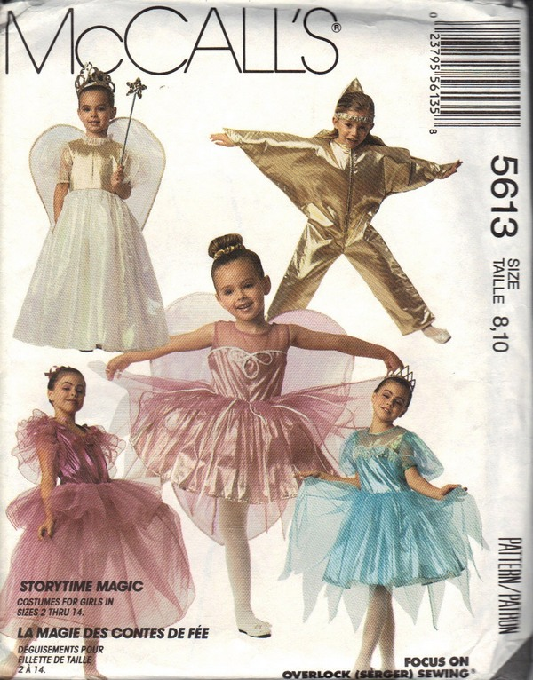 McCalls 5613 Size 8,10 Storybook Magic Costume Pattern UNCUT - Click Image to Close