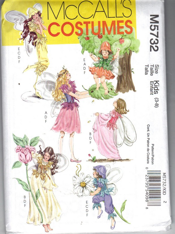 McCalls 5732 Kids Fairy Costume Pattern NEW - Click Image to Close