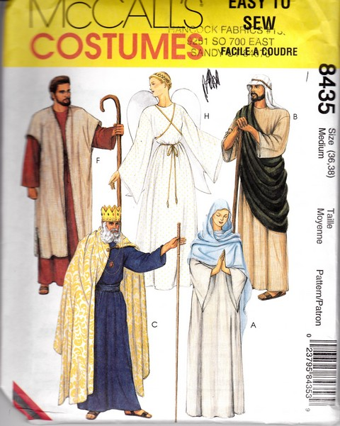 McCalls 8435 Christmas Pageant Costume Pattern Medium UNCUT - Click Image to Close