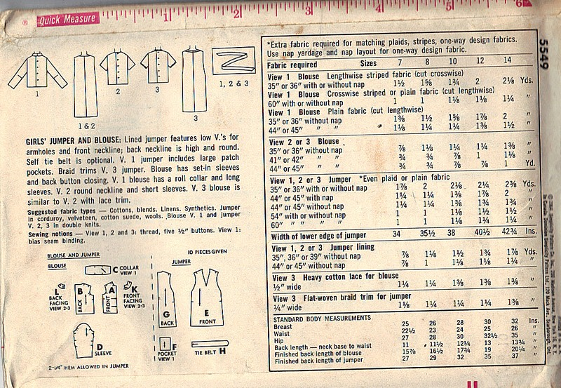 Simplicity 5549 Vintage Jumper Pattern UNCUT - Click Image to Close