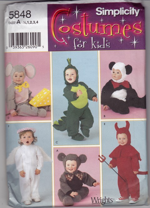 Simplicity 5848 Toddler Costume Sewing Pattern UNCUT - Click Image to Close