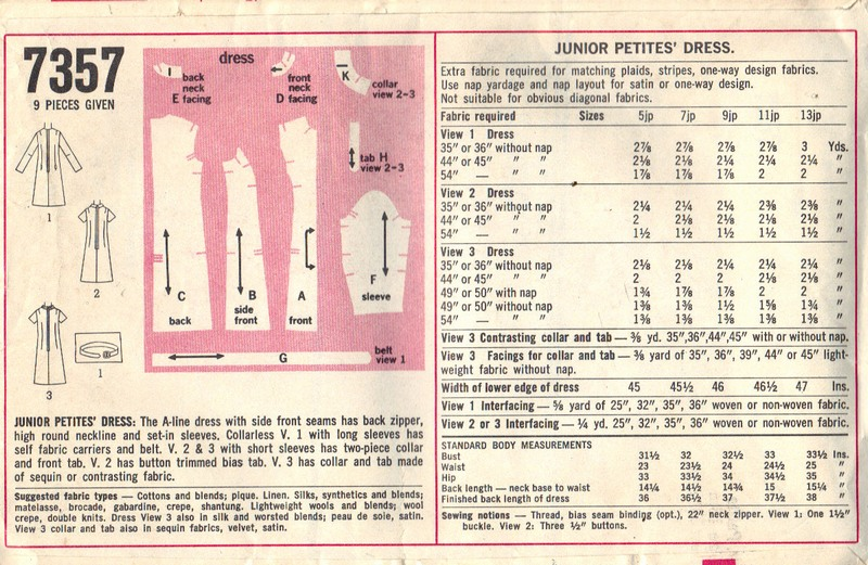 Simplicity 7357 Shift Sheath Dress Vintage Pattern - Click Image to Close