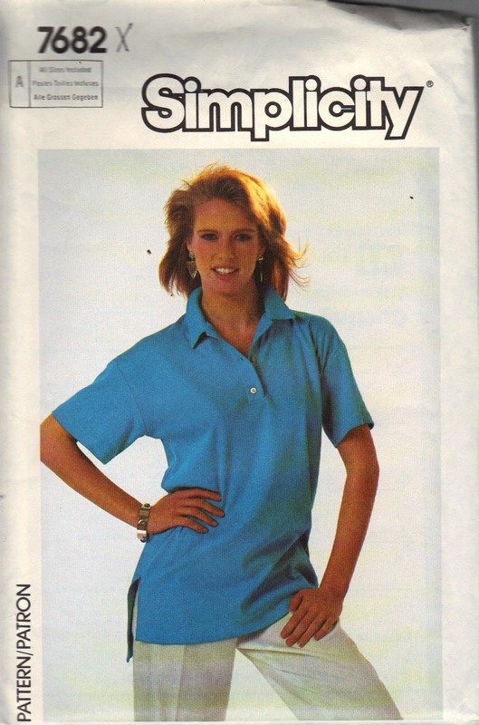 Simplicity 7682 Knit Top Pattern UNCUT - Click Image to Close