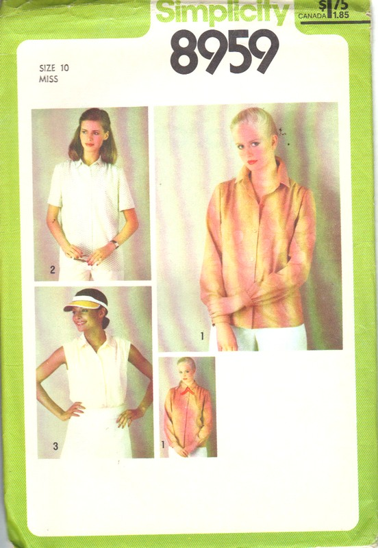 Simplicity 8959 Size 10 Classic Blouse Pattern UNCUT - Click Image to Close