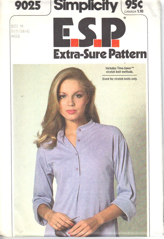 Simplicity 9025 Size N ESP Vintage Blouse Pattern - Click Image to Close