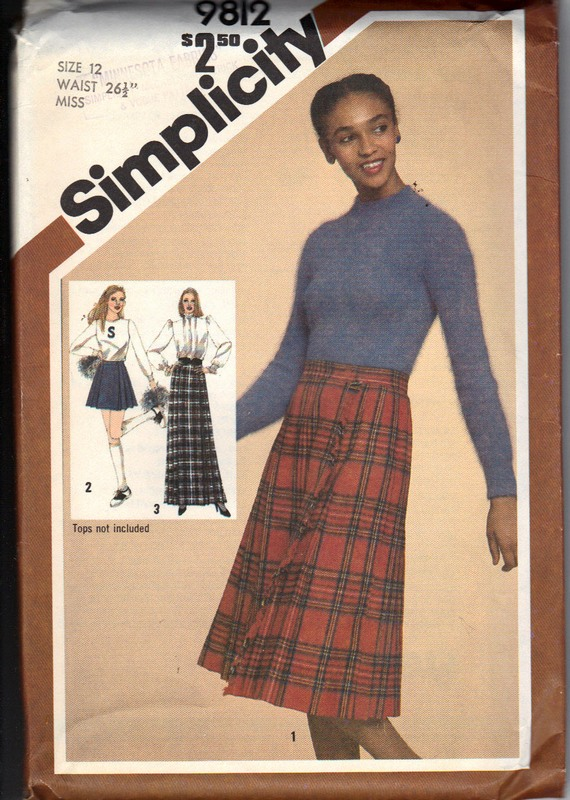 Simplicity 9812 Size 12 Vintage Skirt Pattern UNCUT - Click Image to Close