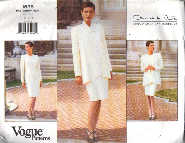 Vogue 1636 Oscar de la Renta Wardrobe Pattern12-14-16 NEW - Click Image to Close