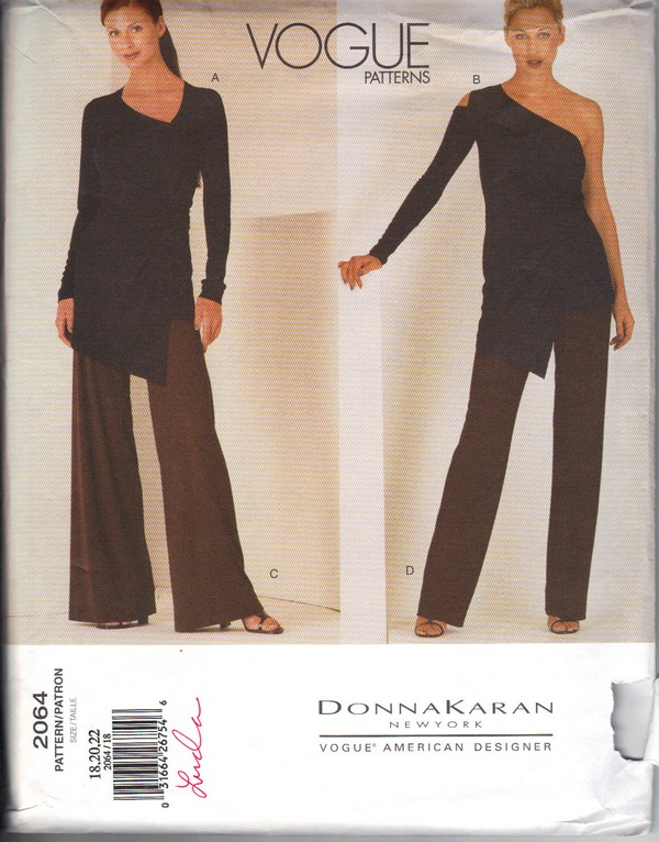 Vogue 2064 Donna Karan Pattern Evening Large UNCUT - Click Image to Close