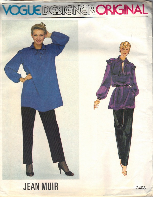 Vogue 2403 Jean Muir Evening Outfit Pattern UNCUT - Click Image to Close