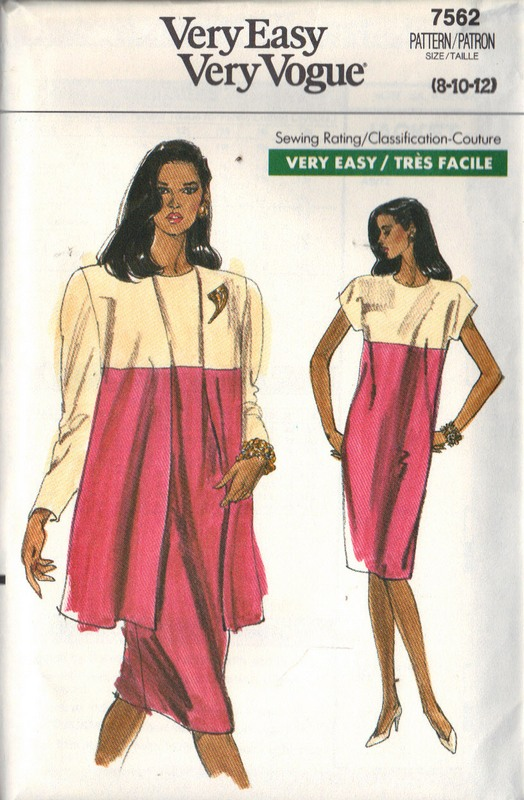 Vogue 9562 Dress Jacket 8--10-12 Pattern UNCUT - Click Image to Close