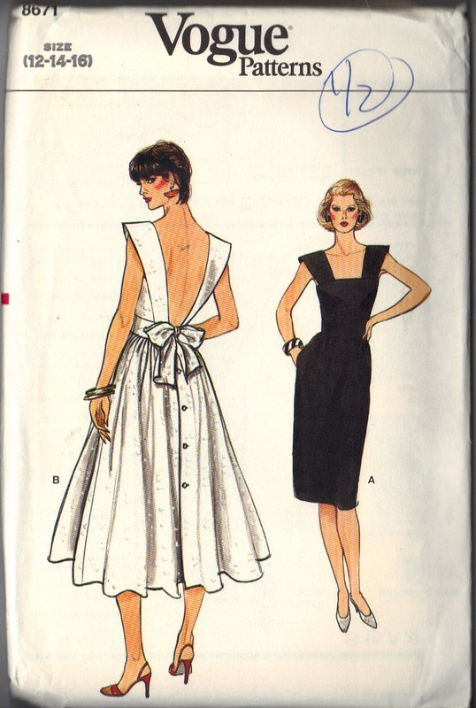 Vogue 8671 Sundress Backless 12-14-16 Pattern UNCUT - Click Image to Close