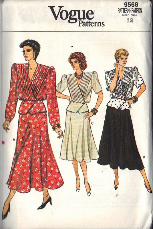 Vogur 9568 Top Skirt Pattern Size 12 UNCUT - Click Image to Close