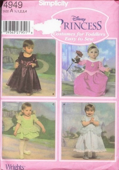 Simplicity 4949 Disney Princess Pattern UNCUT - Click Image to Close