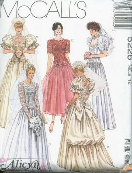Alicyn Exclusives Bridal Bridesmaid's Pattern 5226 Size 12 - Click Image to Close