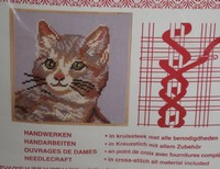 Kitten Needlepoint Kit German Import