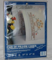 Pair of Pillow Cases for Embroidery - Prayer