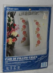 Pair of Pillow Cases for Embroidery - Roses
