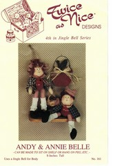 Andy & Annie Bell Twice as Nice Doll Pattern - New