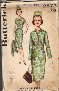 Butterick 2573 Vintage Jacket Dress Pattern UNCUT