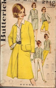 Butterick 2710 1960's Separates Pattern UNCUT