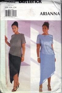 Butterick 3062 Plus Size Occasion Dress Pattern