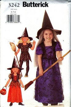 Butterick 3242 Girl's Witch Costume Pattern NEW