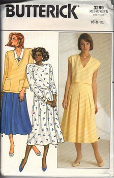 Butterick 3289 Loose Fitting Top Skirt Pattern UNCUT