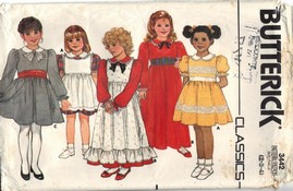 Butterick 3442 Girls Dress Pattern UNCUT