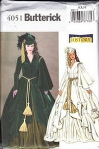 Butterick 4051 Costume Pattern Scarlet O'Hara 6, 8, 10 NEW
