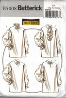 Butterick 5008 XM Misses'/Men's Historical Shirt Pattern UNCUT