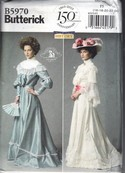 Butterick 5970 19th Century Gown Costume Pattern UNCUT