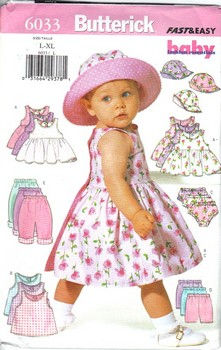 Butterick 6033 Large Infants Dress Separates Pattern