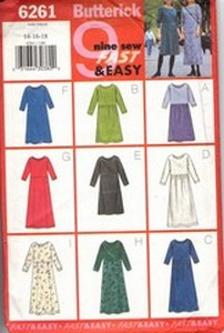 Butterick 6261 Pullover Dress Sewing Pattern UNCUT