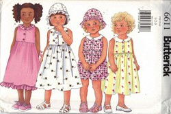 Butterick 6611 Girls Dress Romper Hat Pattern