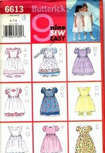 Butterick 6613 Pinafore Dress Pantaloons Pattern UNCUT